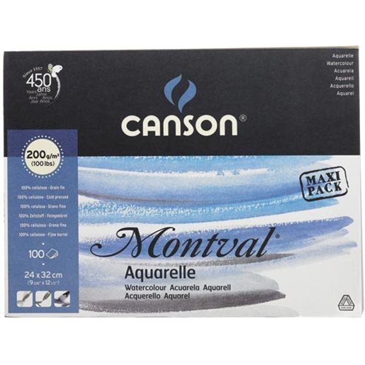 Canson Akvarellilehtiö Montval, 240x320 mm